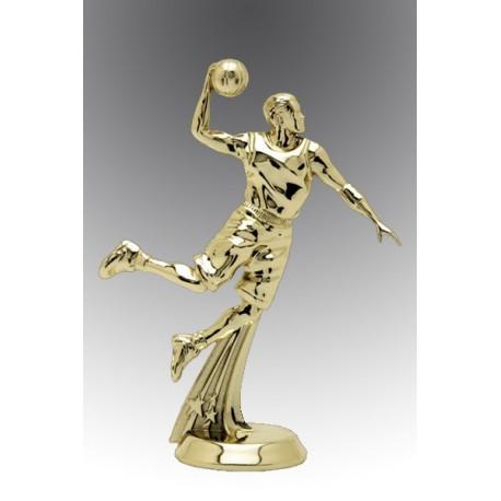 Statueta aurita Cel mai destept jucator de baschet