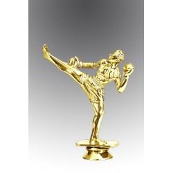 Statueta aurita pentru excelenta in kickboxing
