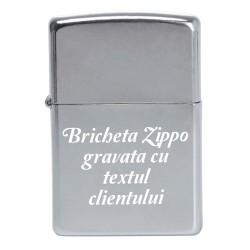Bricheta Zippo gravata cu text