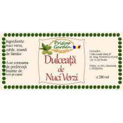 Eticheta Dulceata de nuci verzi