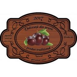 Eticheta Dulceata din prune
