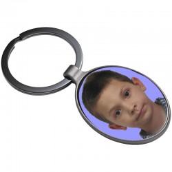 Breloc metalic oval cu poza color