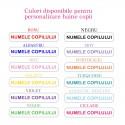 Etichete cu nume pentru personalizat haine copii